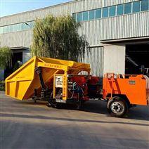单杠喷浆车一拖二混凝土自动上料喷浆机