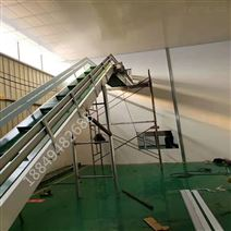懸掛食品輸送機爬坡刮板上料裝車傳送機