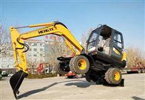 輪式挖掘機-HT75W全液壓輪胎式挖機