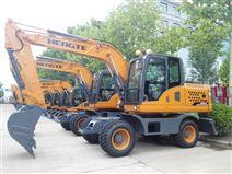 挖掘機生產廠家-HT145W全液壓輪胎式