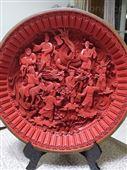 北京雕漆八仙過海鏤空圓盤